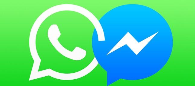 Resultado de imagem para facebook messenger e whatsapp