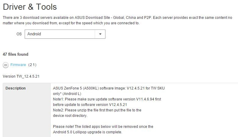 Asus começa a disponibilizar Android Lollipop para o Zenfone
