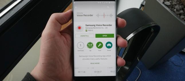 Samsung Voice Recorder se tornou um app à parte na Play