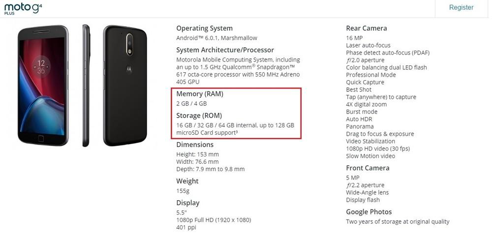 94d3e7d05f01 Moto G4 Plus com o dobro de RAM e memória interna é oficial nos EUA ...