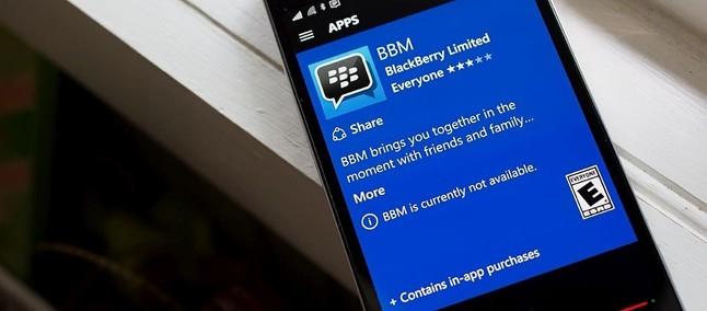 BBM para Windows Phone desaparece da Windows Store