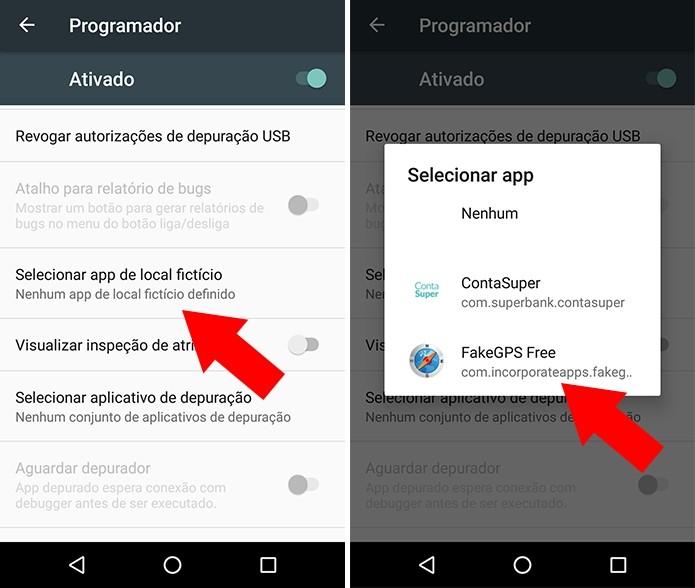 Como obter localização de GPS falsa no smartphone Android