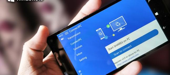 SHARE it é atualizado para Windows 10 Mobile com suporte