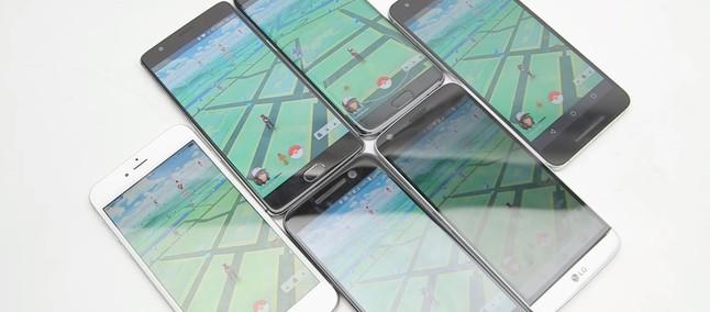 Teste de bateria com Pokémon Go: iPhone 6s Plus x Galaxy S7