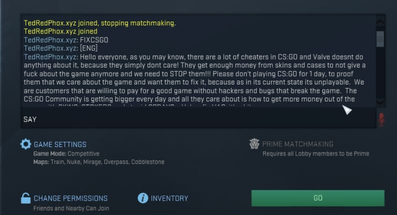 Steam matchmaking unavailable