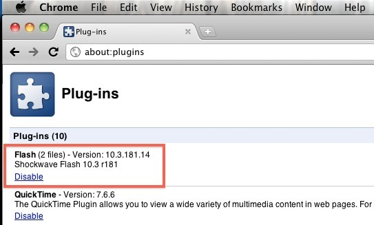 chrome plugins como acessar