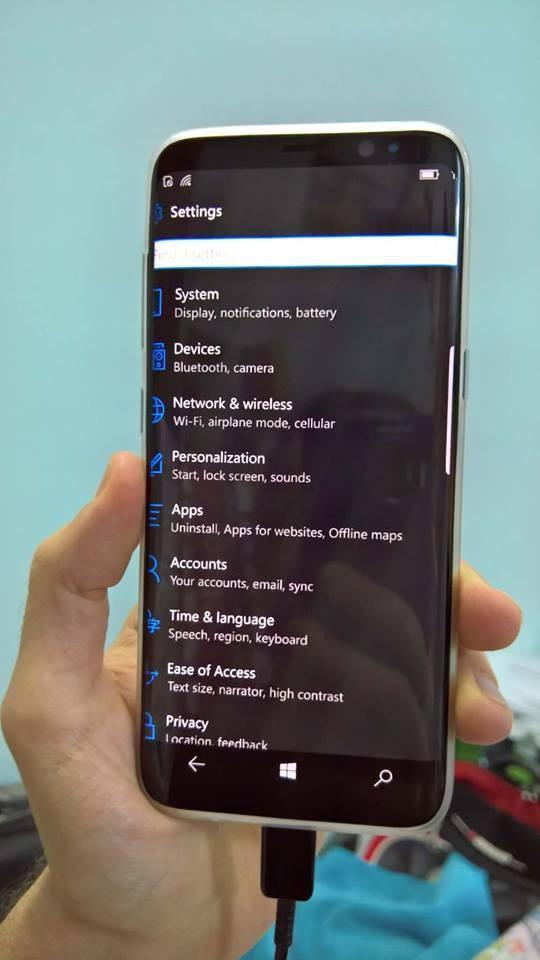É assim que seria o Samsung Galaxy S8 rodando Windows 10