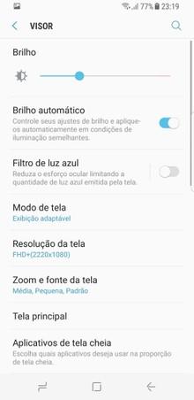 d06b9e7400b08e Para tornar o uso da Tela Infinita o mais agradável possível para os olhos,  cada usuário pode realizar ajustes finos que vão além do brilho da tela, ...