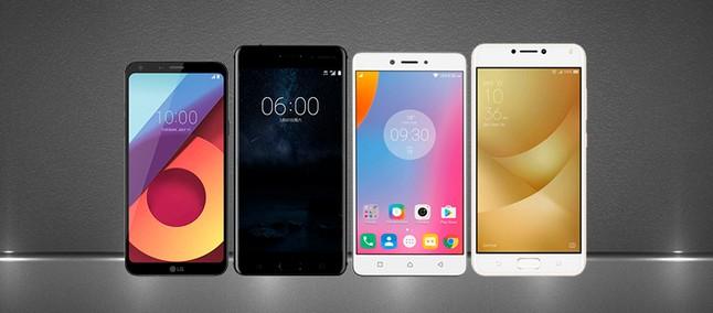 09aee256e9 Comparativo em tamanho real  LG Q6 contra Nokia 6 e outros intermediários