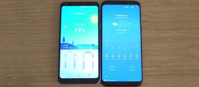 bcf9580b5 Intermediário vs flagship! LG Q6 enfrenta Galaxy S8 em teste de velocidade