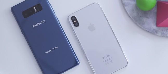 6276091ab3 Está mais rápido que no Nougat  Galaxy Note 8 com Android Oreo enfrenta  iPhone X