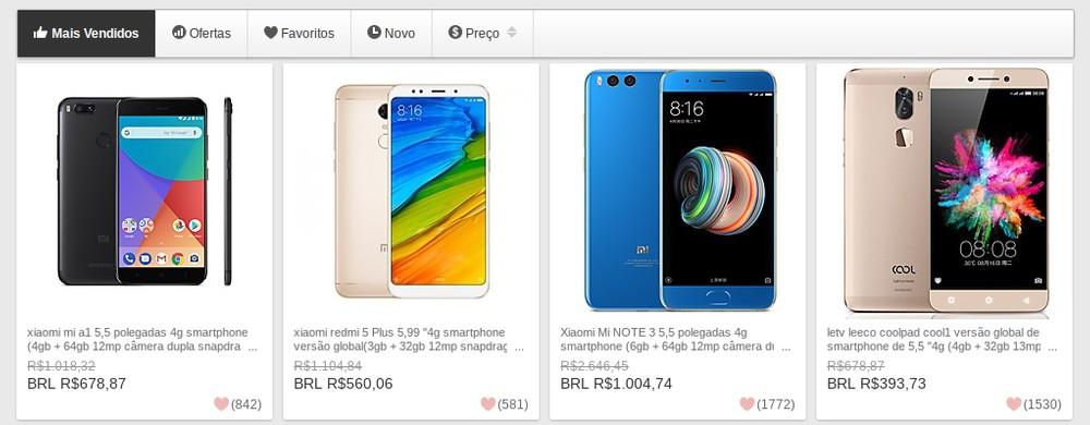 68a79ac6a6025 A quantidade de smartphones disponíveis também agrada, sendo possível até  mesmo