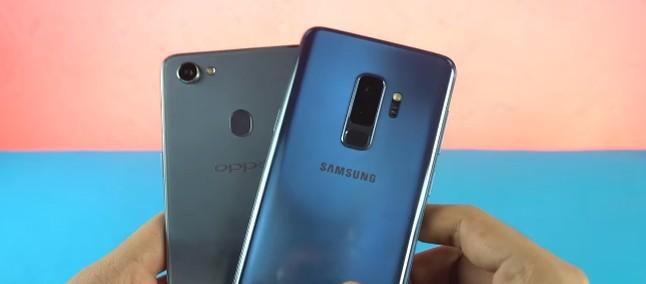 Batalha Injusta? Oppo F7 E Galaxy S9 Plus Se Enfrentam Em
