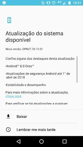 No Brasil! Moto Z Play começa a receber Android 8.0 Oreo em nova atualização