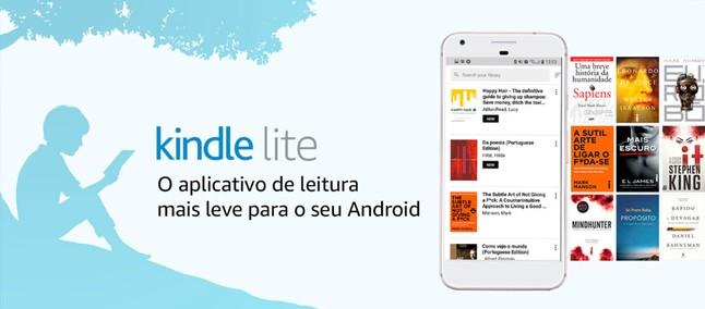 Amazon anuncia app Kindle Lite no Brasil para Android com