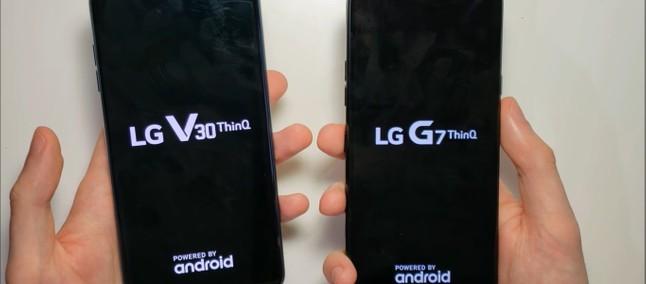 Duelo entre flagships da LG: G7 ThinQ e V30 se enfrentam em