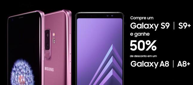 413625c27c Compre o Galaxy S9 e ganhe desconto no A8 em promoção de Dia dos Namorados  da Samsung