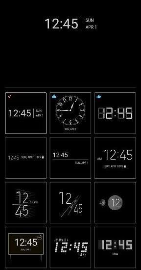 51d18f3ec ... alterar o design do Always on Display e do relógio na tela de bloqueio.  Pois bem, o ClockFace adiciona 29 designs de relógio extras para escolher.