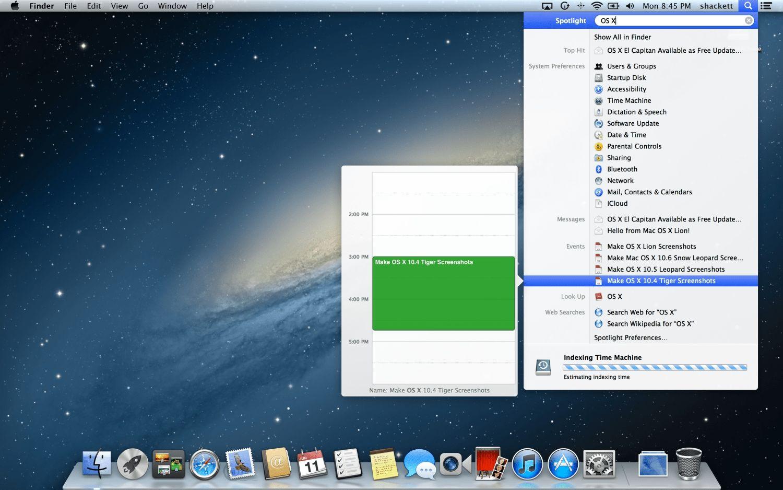 time machine mac os x 10.4