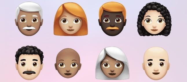 Ruivos, grisalhos e carecas! Mais de 70 novos emojis chegam