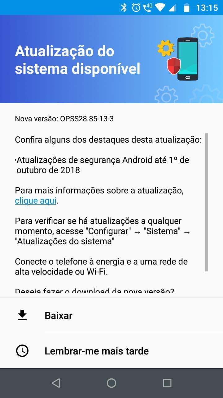 Motorola Moto G5 Plus recebe atualização com o pacote de