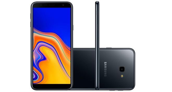 d22401a6508 O Galaxy J4 Plus é o mais recente lançamento da Samsung no segmento de  entrada. O modelo traz tela grande de 6 polegadas com resolução HD+, o que  pode ser ...