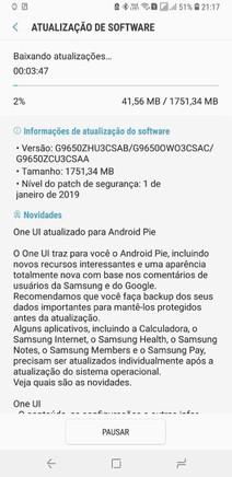 Saiu do forno! Samsung libera Android Pie para Galaxy S9 e S9 Plus
