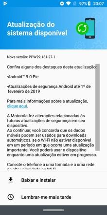 Finalmente! Motorola começa a liberar Android 9 0 Pie para Moto Z3