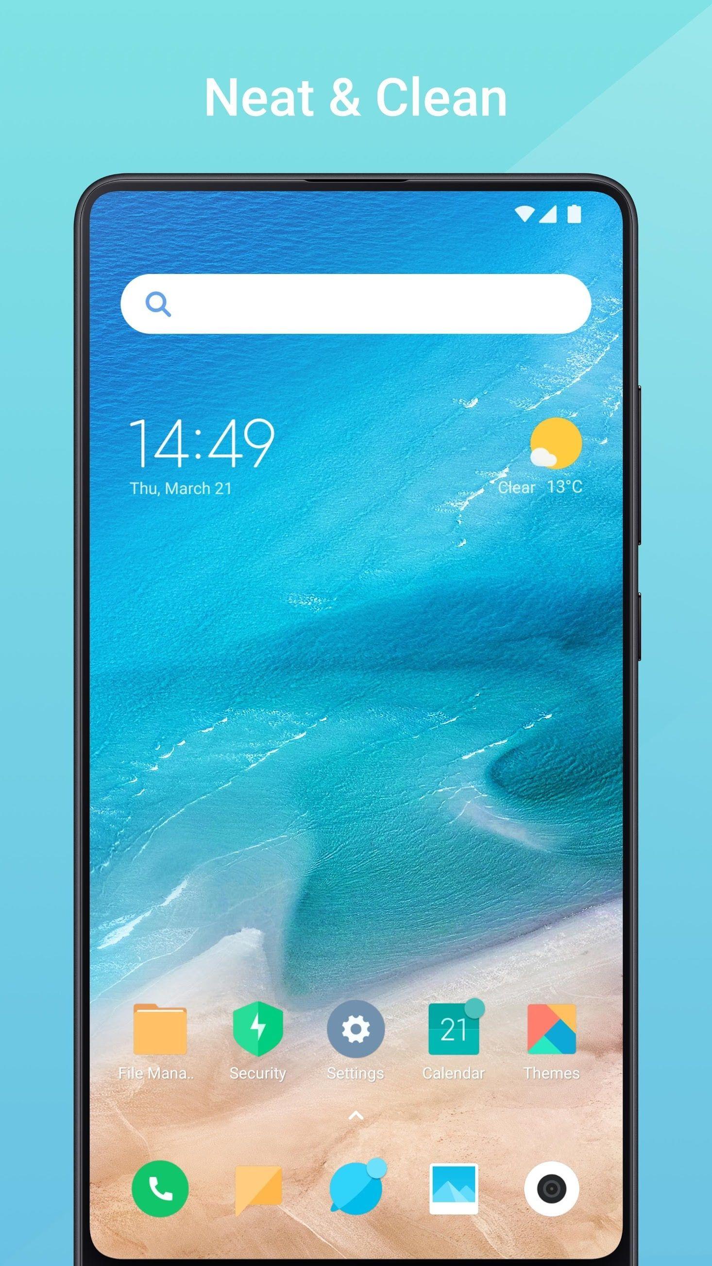Xiaomi lança Mint Launcher que traz design minimalista e