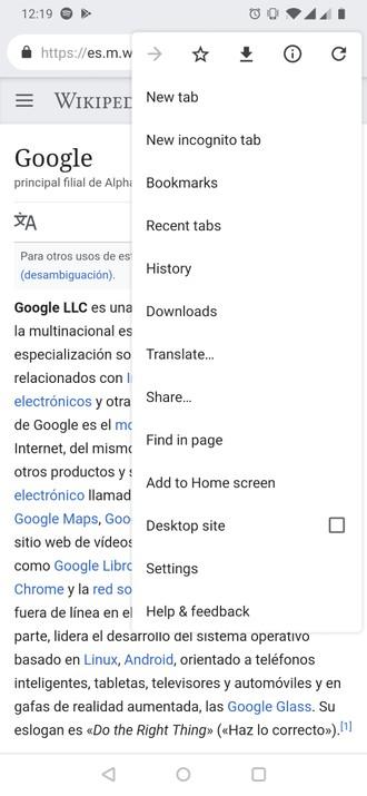 Chrome 74 para Android recebe modo escuro, atalho para o Google
