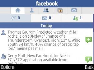 Facebook app oficial para Nokia E71 e Nokia E72 - Tudocelular com