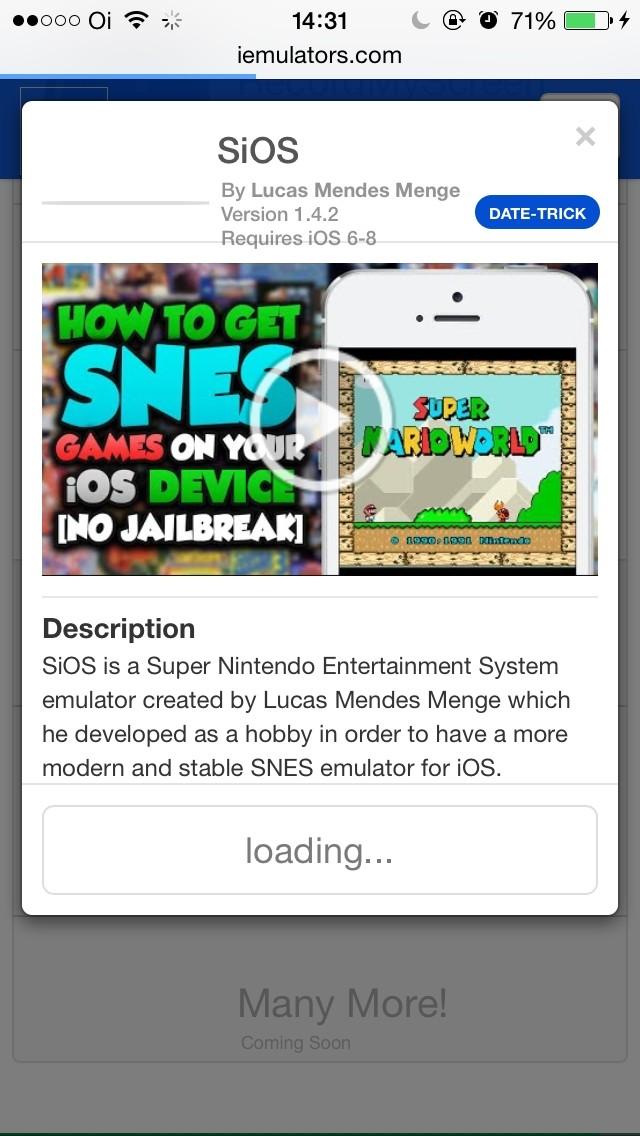 SiOS: Emulador de SNES é atualizado para iOS 8 e não precisa